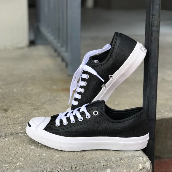 ... NWT Converse JP Leather Black WMNS AUTHENTIC on feet shots of 703e3  fa7d9  Converse Shoes - NWT Converse AdFabric AllStar Black HT ... aef4e8b49